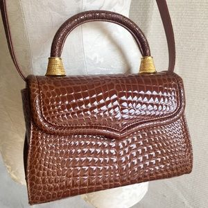 Vintage Alligator Crossbody Bag EUC Genuine Hide